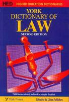 York Dictionary of Law 2nd Edition (New impression)